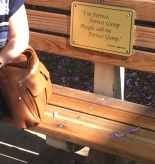 The bench from Forrest Gump